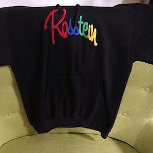 Rosstein Black Hoody Pullover Sweatshirt